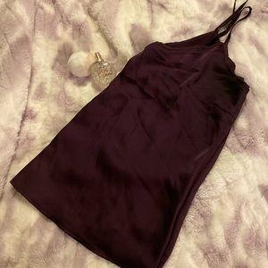 Deep purple satin/silky tank